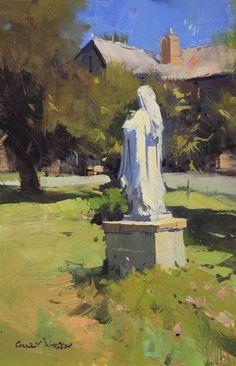 Colley Whisson      Our Lady Of The Rosary, Kyneton - Australia Oil 10''x 5''