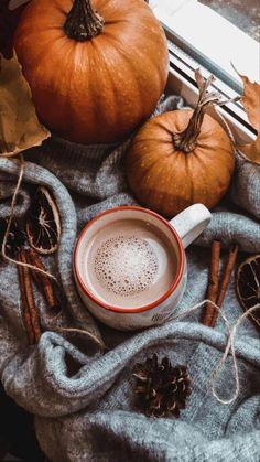 Cute Fall Wallpaper, Halloween Wallpaper Iphone, Of Wallpaper, October Wallpaper, Fall Background, Autumn Cozy, Autumn Coffee, Autumn Fall, Autumn Leaves