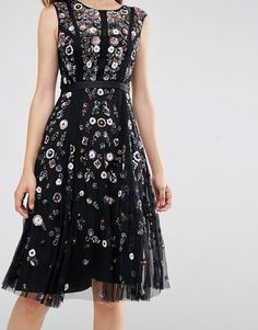 Image 3 of Needle & Thread Floral Ombre Midi Dress