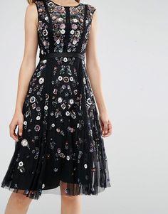 needle & thread floral ombre midi dress