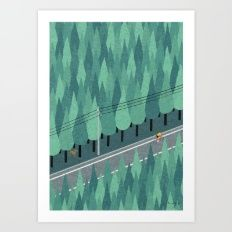 Art Print featuring Cycling by Ryo Takemasa