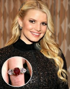 Jessica Simpson Ruby Engagement Ring Cost