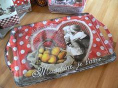"""Plateau rectangulaire """"Madeleine Je t'Aime"""", Orval"""