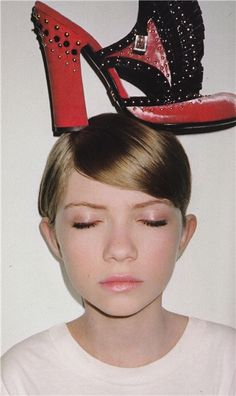 Tavi Gevinson. Looks like she's dreaming up a pretty amazing pair of shoes!