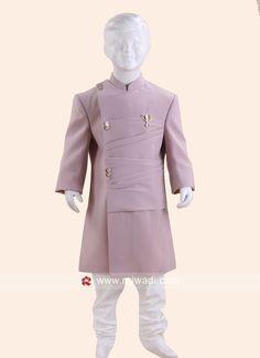 Designer Indo Western For Boys Wedding Dresses Men Indian, Wedding Dresses For Kids, Designer Suits For Men, Designer Clothes For Men, Indian Men Fashion, Kids Fashion, Man Dress Design, Wedding Outfit For Boys, Boys Kurta Design