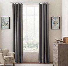Linen-Cotton Drapery Panel
