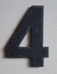 Hausnummer, einzeln | Schiefergalerie, Kunsthandwerk