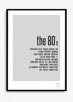 Poster KREATIVITUM - Remember the 80's 50x70 cm