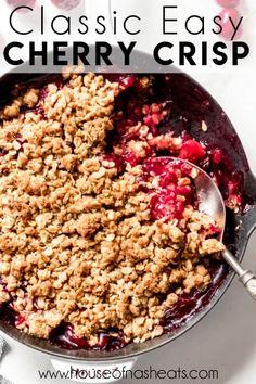 Cherry Desserts, Cherry Recipes, Fun Desserts, Dessert Recipes, Dessert Ideas, Cherry Crisp Recipe With Fresh Cherries, Frozen Cherries, Cherry Crumble, Cherry Tart