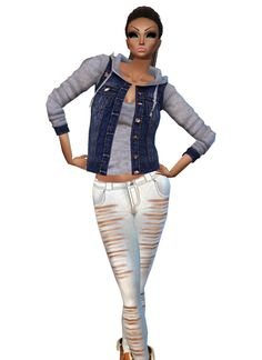 IMVU, the interactive, avatar-based social platform that empowers an emotional chat and self-expression experience with millions of users around the world. Social Platform, Virtual World, Imvu, Avatar, White Jeans, Join, Fashion, Moda, Fashion Styles