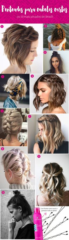 Hairstyle for very short hair – Best Newest Hairstyle Trends – cabelo Boho Hairstyles, Straight Hairstyles, Hairstyle Short Hair, Hairstyle Ideas, Hair Day, New Hair, Short Braids, Very Short Hair, How To Make Hair