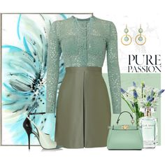 Pure Passion by armband on Polyvore featuring mode, Victoria Beckham, Alexander Wang, Fendi, Feather & Stone, Elie Saab and LSA International