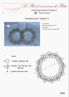 Alexia©    Sono particolarmente legata affettivamente a questo paio di orecchini.  È stato il mio primo schema...  i miei primissimi b...