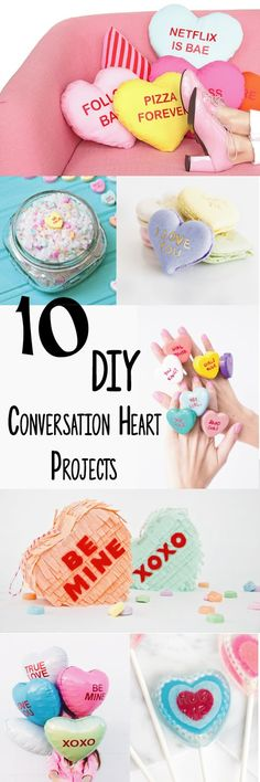 10 fun, colorful, and creative conversation heart DIY projects for Valentine's day!