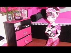 How to make a Sliding Door Cabinet for doll (Monster High, Barbie, etc) - YouTube
