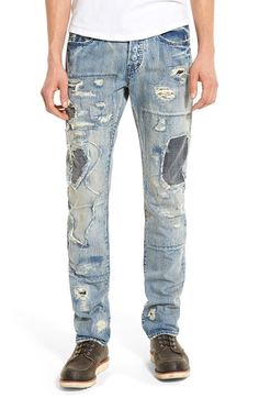 PRPS 'Demon - Danno' Destroyed Slim Straight Leg Jeans (Enzyme) available at #Nordstrom