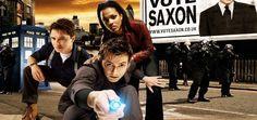 The 10th Doctor (David Tennant),  Martha Jones (Freema Agyeman) and Captain Jack Harkness (John Barrowman) #DW