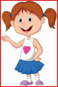 Cute Disney Drawings, Art Drawings For Kids, Drawing For Kids, Cartoon Drawings, Kids Cartoon Characters, Cartoon Kids, Girl Cartoon, Cute Cartoon Images, Happy Cartoon