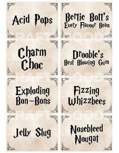 Harry Potter Food &Drink Labels.PDF | Holidays | Pinterest | 236 x 305 jpeg 19kB