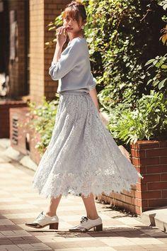 フィッシュテールレーススカート(フレアスカート)|Apuweiser-riche(アプワイザーリッシェ)|ファッション通販 - ファッションウォーカー