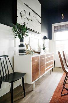 Black dining room | One Room Challenge