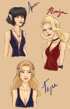 Amren, Feyre & Mor