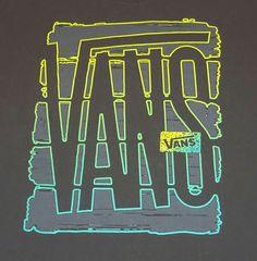 Vans Gray Sport Graphic t-shirt Tee Size XL Glow under black light #VANS #GraphicTee