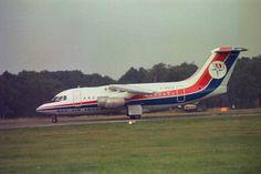 Dan Air BA 146 at Farnborough