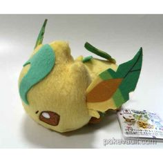 Pokemon 2016 Banpresto UFO Game Catcher Prize Kororin Friends Leafeon Plush Toy