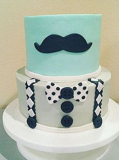 ccscakery | Gentleman little man baby shower cake
