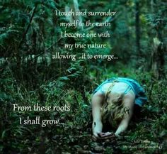 My roots seek Mother Gaia