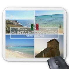 IT Italy - Puglia - Punta Prosciutto - Mouse Pad  $12.70  by leopepe  - custom gift idea
