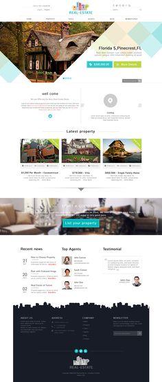 Real-Estate PSD Theme on Behance