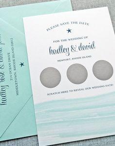 A scratch off save the date? Such a fun and original idea! Simply scratch to reveal the wedding date!