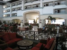 The fabulous lobby in the Royal Hotel Adult only All-Inclusive hotel in Cancun