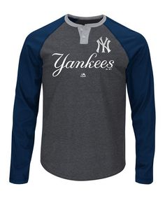 Look what I found on #zulily! New York Yankees Two-Button Jersey - Big & Tall #zulilyfinds
