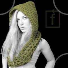 hooded scarf pattern - CROCHET by Sirkka