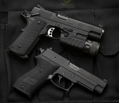 Springfield Armory 1911 + SIG Sauer P220 by sabekuji_kaneda - http://www.RGrips.com
