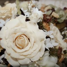 boquet, tan, brown, natural, wedding boquet
