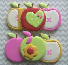 Sweet Apples Decorated Sugar Cookies