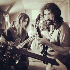 Bob Weir and Jerry Garcia