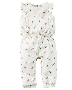 Featuring an allover print and sweet flutter sleeves, this lightweight jumpsuit is a summer essential. Complete with cinched details and snaps, getting dressed is a breeze. Carters Baby Girl, Baby Girl Romper, Baby Girl Fashion, Kids Fashion, Toddler Outfits, Kids Outfits, Baby Girl One Pieces, Gender Neutral Baby Clothes, Jumpsuit With Sleeves