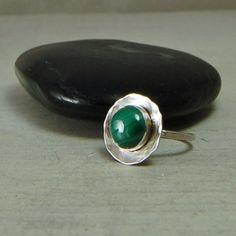 Green Malachite Ring Malachite Sterling Silver Ring