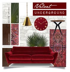 """Velvet UNDERGROUND"" by tammara-d ❤ liked on Polyvore featuring interior, interiors, interior design, home, home decor, interior decorating, Somette, Apadana, Balmain and Kate Spade"