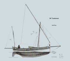 lateen sail rig for modern-ish boats