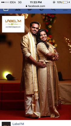 Half Saree, Groom Dress, Wedding Attire, Kerala, Reception, Sari, Christian, Couples, Dresses