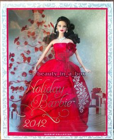 2012 Holiday Barbie Doll Christmas Celebration Brunette Version #Mattel #BarbieDoll