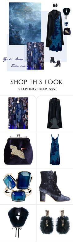 """""""Yuki Onna"""" by ladyarchitect ❤ liked on Polyvore featuring Elie Saab, Veil London, WithChic, Polly Plume, 'S MaxMara, Alexis Bittar, Fiction and YukiOnna"""