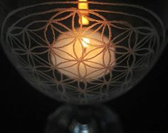 Flower of Life - Hand engraved wine glass