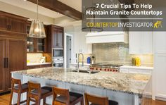 Here's the lowdown on how to care for granite countertops so you can keep them looking wonderful for years to come. https://countertopinvestigator.com/granite-care/